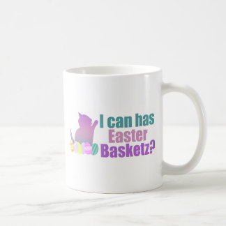 Puedo tengo cesta de Pascua Taza De Café