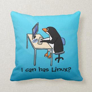 ¿Puedo tengo Linux? Cojín Decorativo