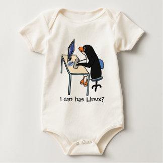 ¿Puedo tengo Linux? Traje De Bebé