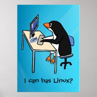 ¿Puedo tengo Linux? Póster