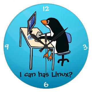¿Puedo tengo Linux? Reloj Redondo Grande