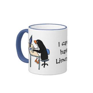 ¿Puedo tengo Linux? Taza De Dos Colores