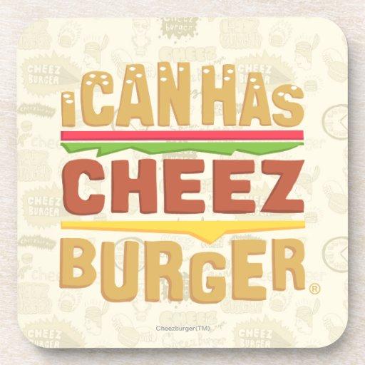 Puedo tengo logotipo de Cheezburger Posavasos De Bebidas
