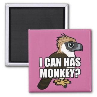 ¿Puedo tengo mono? Imán Cuadrado