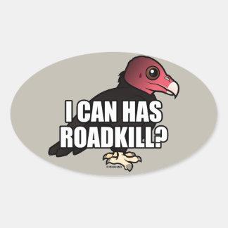 ¿Puedo tengo Roadkill? Pegatina Ovalada