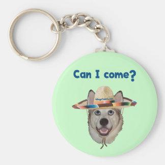 Puedo vengo perro llavero redondo tipo pin