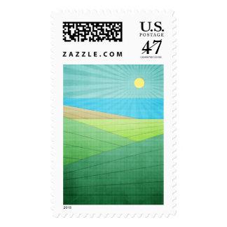 Puedo ver la playa timbres postales