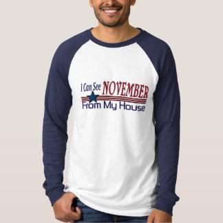 Puedo ver noviembre de mi casa divertida playera