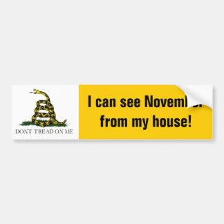 ¡Puedo ver noviembre de mi casa! Pegatina Para Auto