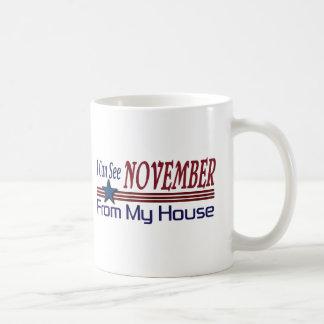 Puedo ver noviembre de mi casa taza de café