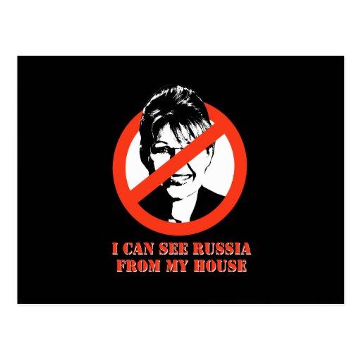 Puedo ver Rusia de mi casa Tarjeta Postal