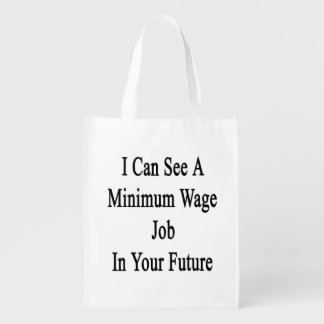 Puedo ver un trabajo mínimo de Wate en su futuro Bolsas De La Compra