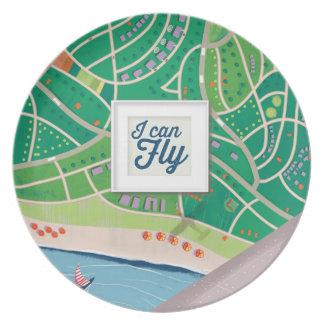 puedo volar la placa platos