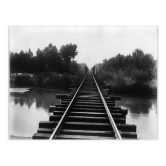 Puente 1800's del ferrocarril tarjetas postales