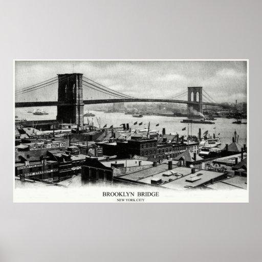 Puente 1900 de Brooklyn Impresiones