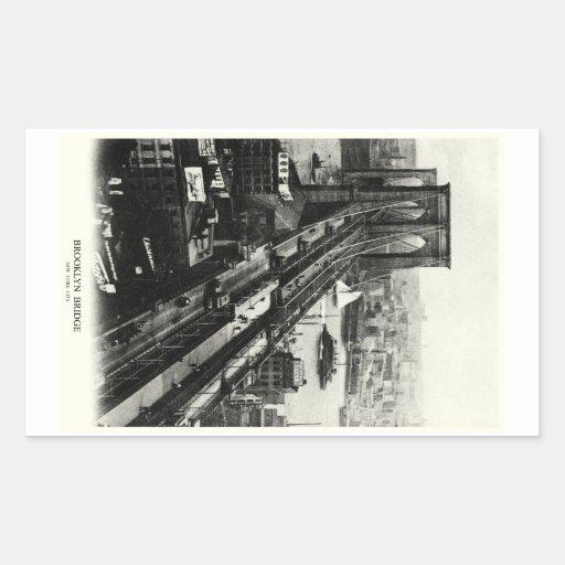 Puente 1900 de Brooklyn Pegatina Rectangular