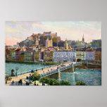 Puente 1916 del estado de Salzburg de la acuarela Impresiones