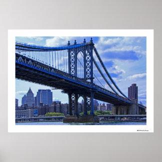 Puente A2 de Manhattan de NYC Póster