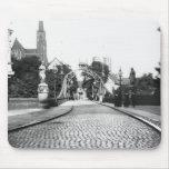 Puente a la catedral, Breslau Polonia, c.1910 Alfombrillas De Ratones