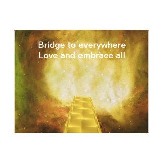 Puente a por todas partes lienzo envuelto para galerías