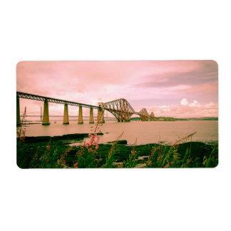 Puente adelante ferroviario cerca de Edimburgo, Etiquetas De Envío