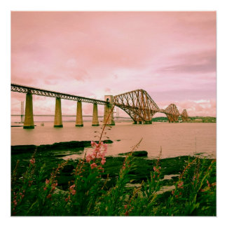 Puente adelante ferroviario cerca de Edimburgo, Perfect Poster