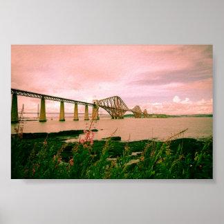Puente adelante ferroviario cerca de Edimburgo, Póster