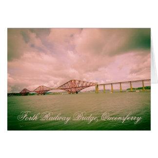 Puente adelante ferroviario cerca de Edimburgo, Tarjeta De Felicitación