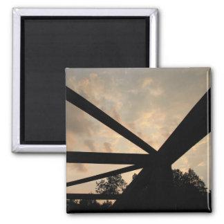 Puente aherrumbrado Rainling Imán Cuadrado