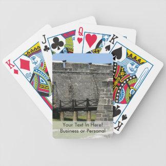 Puente al fuerte de St Augustine a través de la Baraja De Cartas