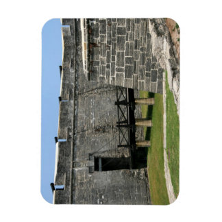 Puente al fuerte de St Augustine a través de la fo Imanes De Vinilo