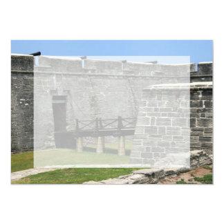 """Puente al fuerte de St Augustine a través de la Invitación 5"""" X 7"""""""