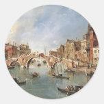 Puente arqueado Guardi-Three de Francisco en Pegatinas Redondas