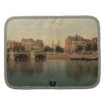Puente azul y el río de Amstel, Amsterdam Organizador