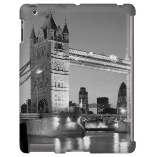 Puente blanco negro de la torre de Londres Funda Para iPad