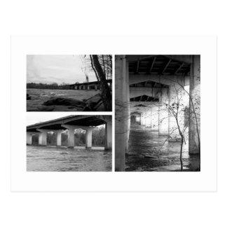 Puente blanco y negro tarjetas postales