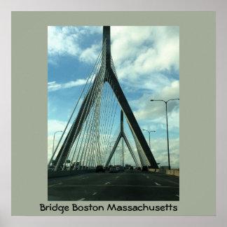 Puente Boston Massachusetts Póster