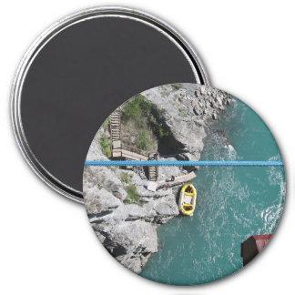 Puente Bungy POV, Queenstown, Nueva Zelanda de Kaw Imán Redondo 7 Cm
