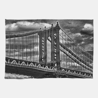 Puente BW A1 de Manhattan de NYC Toallas De Mano