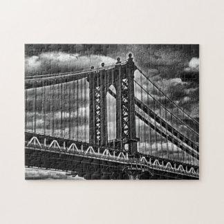 Puente BW A1 de Manhattan de NYC Puzzle Con Fotos