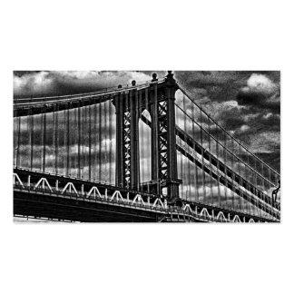 Puente BW A1 de Manhattan de NYC Tarjetas De Visita