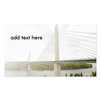 puente cable-permanecido tarjetas de visita