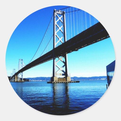 Puente California septentrional San Francisco de Pegatina Redonda