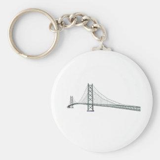 Puente colgante de Akashi Kaikyo: Puente de la per Llavero Redondo Tipo Pin