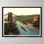 Puente colgante de Clifton, Bristol, Inglaterra Posters