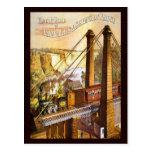 Puente colgante de Niagara Falls del vintage Tarjeta Postal