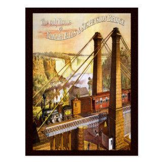 Puente colgante de Niagara Falls del vintage Postal