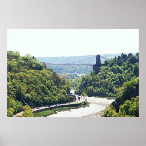 puente colgante del clifton, Bristol, Reino Unido Impresiones