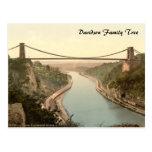Puente colgante II, Bristol, Inglaterra de Clifton Tarjetas Postales