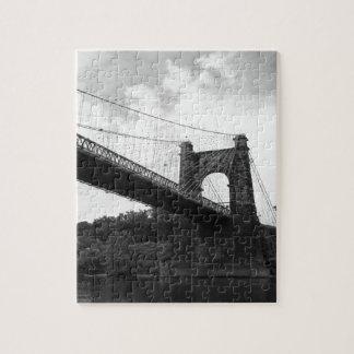 Puente colgante que rueda B&W 2 Rompecabeza